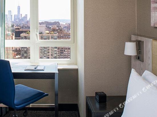 紐約時代廣場西希爾頓逸林酒店(Doubletree by Hilton New York Times Square West)城景上城區特大床房