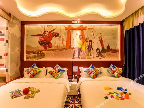 鮮住精品主題酒店(廣州野生動物園店)(原大石地鐵站店)(Xianzhu Boutique Theme Hotel (Guangzhou Wildlife Zoo))大白親子雙床房