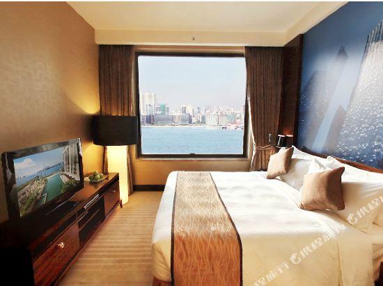 香港港島海逸君綽酒店(Harbour Grand Hong Kong)貴賓樓層貴麗豪華海景房