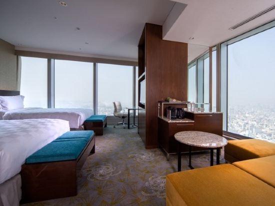大阪萬豪都酒店(Osaka Marriott Miyako Hotel)城景至尊轉角兩張雙人床房