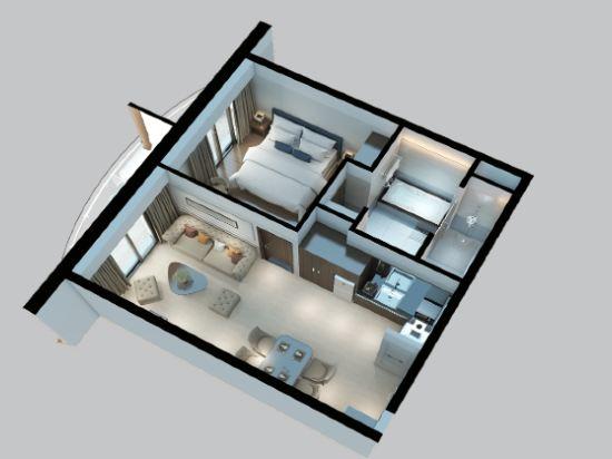 瑞亞茲阿爾塔拉套房(Altara Suites by Ri-Yaz)一卧室和平套房