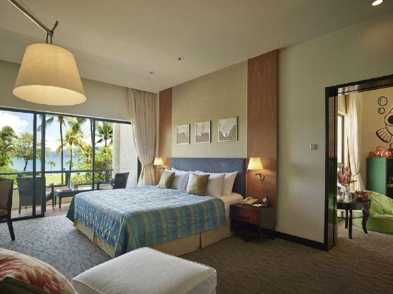 哥打京那巴魯香格里拉丹絨亞路酒店(Shangri-La's Tanjung Aru Resort & Spa Kota Kinabalu)基納巴盧樓家庭房