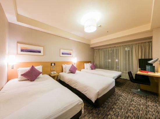 札幌三位神大酒店(Hotel Resol Trinity Sapporo)園景三人房