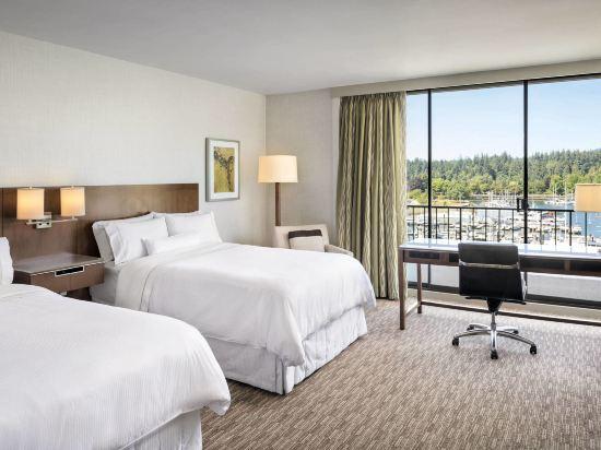海柏温哥華威斯汀酒店(The Westin Bayshore Vancouver)豪華灣景2張雙人床房