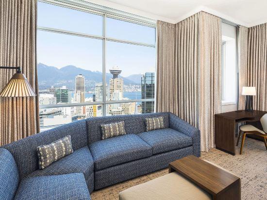 温哥華威斯汀大酒店(The Westin Grand, Vancouver)特大床套房(帶沙發床)