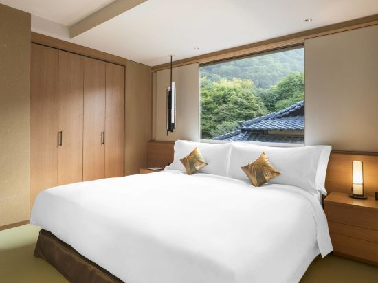 京都翠嵐豪華精選酒店(Suiran, a Luxury Collection Hotel, Kyoto)明滝梅雨行政套房卧室