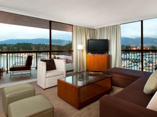 海柏温哥華威斯汀酒店(The Westin Bayshore Vancouver)套房(夏威夷式陽台)