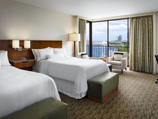 海柏温哥華威斯汀酒店(The Westin Bayshore Vancouver)轉角尊貴灣景2張雙人床房