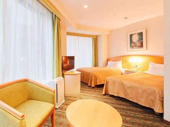 品川王子大飯店(Shinagawa Prince Hotel)主塔樓轉角雙床房