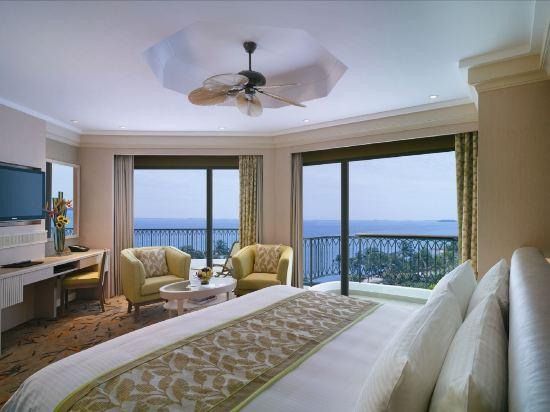 新加坡香格里拉聖淘沙度假酒店(Shangri-La's Rasa Sentosa Resort & Spa)露台池景房