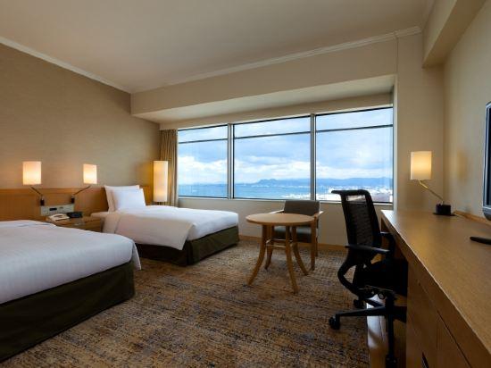 福岡海鷹希爾頓酒店(Hilton Fukuoka Sea Hawk)希爾頓雙床客房