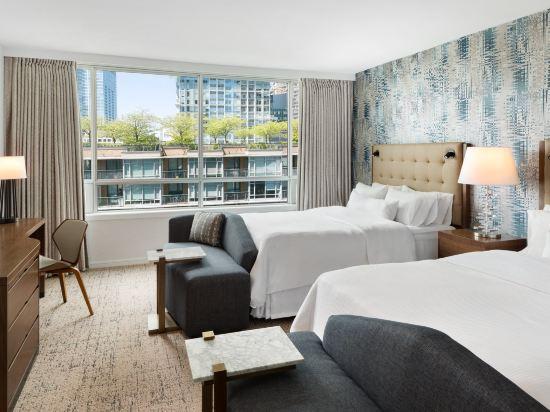 温哥華威斯汀大酒店(The Westin Grand, Vancouver)尊貴兩張大號床房