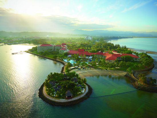 哥打京那巴魯香格里拉丹絨亞路酒店(Shangri-La's Tanjung Aru Resort & Spa Kota Kinabalu)丹絨樓海景房