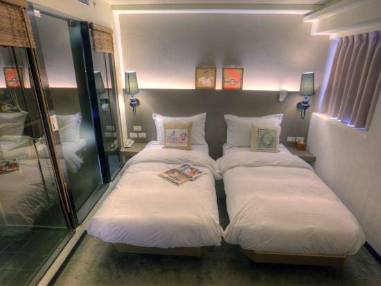 台北二十輪旅店-西門館(Swiio Hotel)雙床客房(無窗)