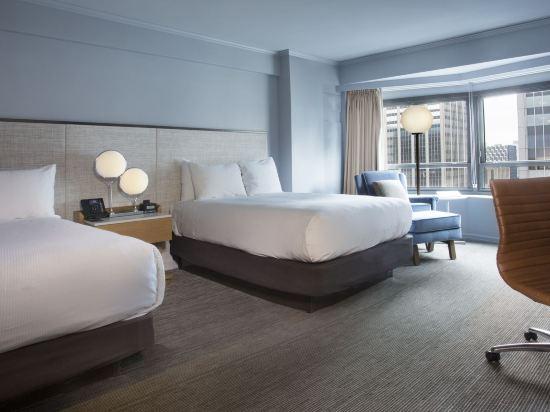 紐約市中心希爾頓酒店(New York Hilton Midtown)尊貴轉角兩張雙人床房