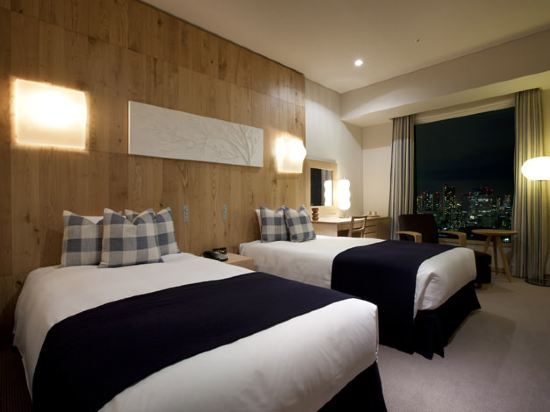 東京汐留皇家花園酒店(The Royal Park Hotel Tokyo Shiodome)標準雙床房-The Woodland-WISE WISE設計(概念樓層)