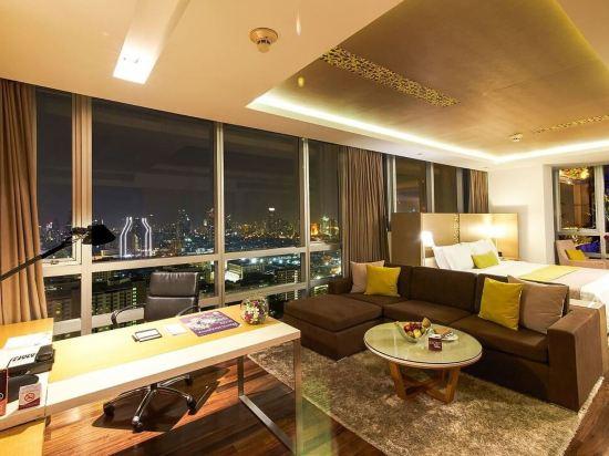 曼谷帕色哇公主酒店(Pathumwan Princess Hotel)地平線單人套房(帶露台)