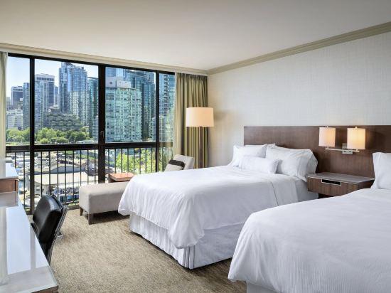 海柏温哥華威斯汀酒店(The Westin Bayshore Vancouver)尊貴灣景2張雙人床房