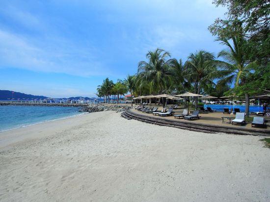 哥打京那巴魯絲綢太平洋酒店(The Pacific Sutera)私人海灘