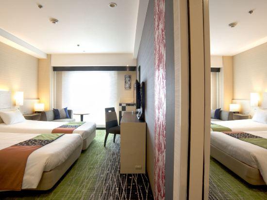 京都新阪急酒店(Hotel New Hankyu Kyoto)兩間連通雙床房