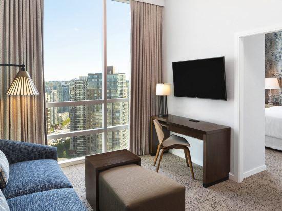 温哥華威斯汀大酒店(The Westin Grand, Vancouver)套房帶1張大號床和沙發床