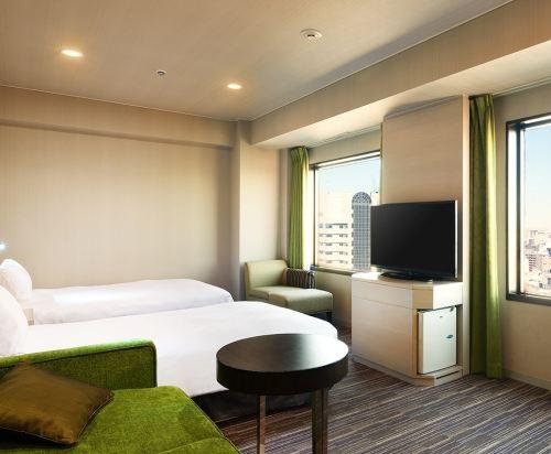 新宿王子大酒店(Shinjuku Prince Hotel)豪華雙床房