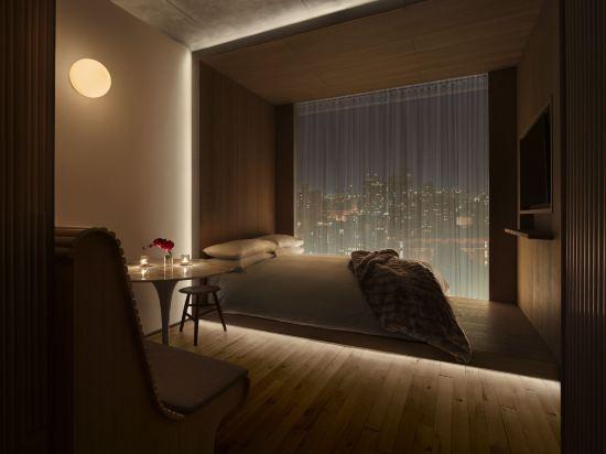 紐約共和酒店(Public New York)壯麗景觀特大床房