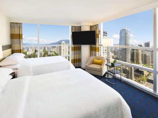 温哥華喜來登華爾中心酒店(Sheraton Vancouver Wall Centre)城景兩卧室行政套房
