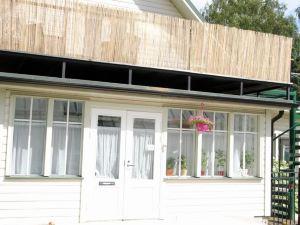 Cabin Family Room with Balcony