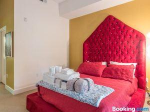 海灘迪斯尼樂園豪華度假村風格和4張床公寓
