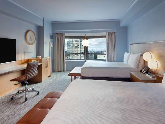 紐約市中心希爾頓酒店(New York Hilton Midtown)都市兩張雙人床房