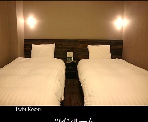 福岡天然温泉博多運河城前多米高級酒店(Hotel Dormy Inn Premium Hakata Canalcitymae Fukuoka)雙床房