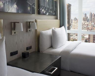 紐約時代廣場西希爾頓逸林酒店(Doubletree by Hilton New York Times Square West)城景豪華上城區兩張大床房