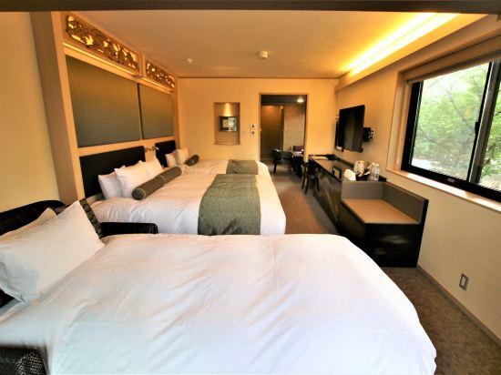 京都雅然居酒店(祇園)(Hotel Alza Kyoto)河景轉角甄選雙床房