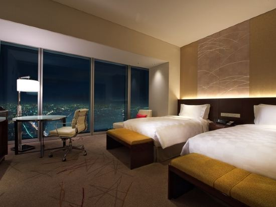 大阪萬豪都酒店(Osaka Marriott Miyako Hotel)城景豪華雙床房