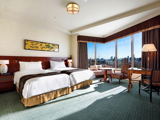 東京椿山莊大酒店(Hotel Chinzanso Tokyo)城景尊貴雙床房(帶水療)