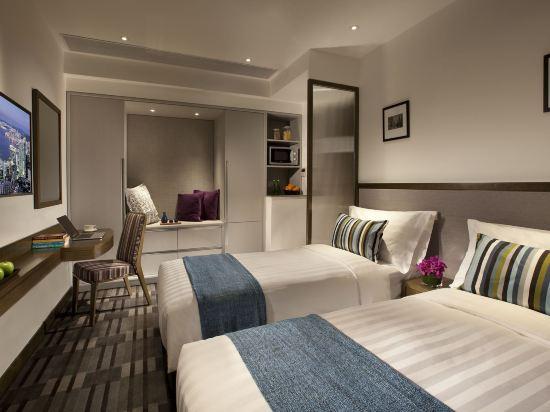 香港盛捷維園公寓酒店(Somerset Victoria Park Hongkong)單房式雙床公寓