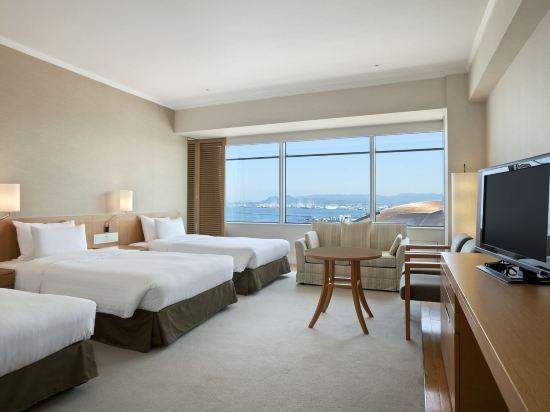福岡海鷹希爾頓酒店(Hilton Fukuoka Sea Hawk)希爾頓豪華三人房