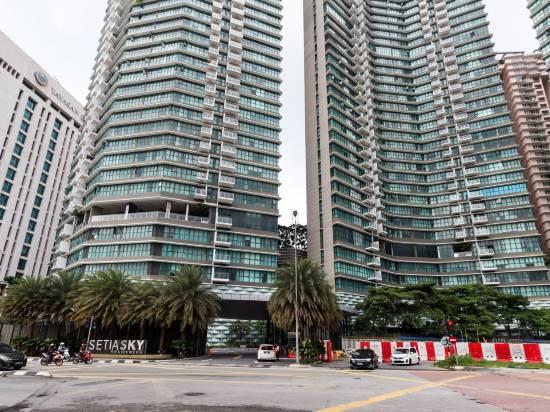 OYO 456塞蒂亞天空和吉隆坡塔景兩卧室公寓