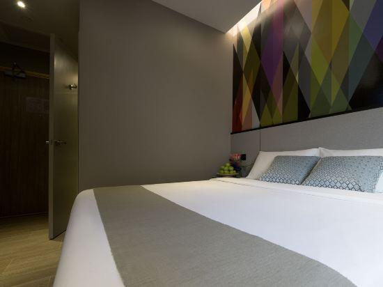 新加坡米閣大酒店(Hotel Mi Singapore)高級大床房(帶陽台)