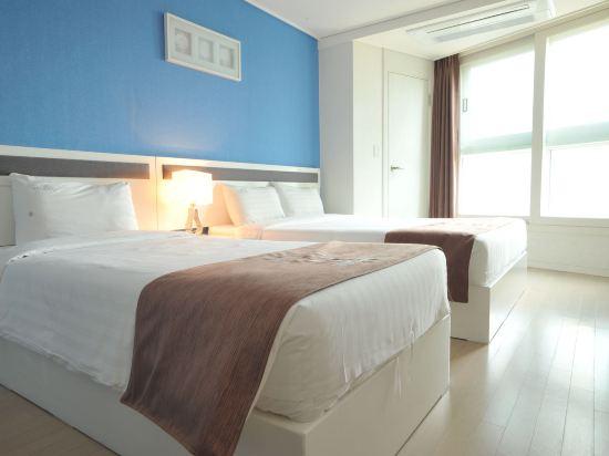 海雲台馬克酒店(Hotel the Mark Haeundae)豪華家庭雙床房