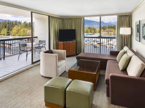 海柏温哥華威斯汀酒店(The Westin Bayshore Vancouver)灣景一卧套房