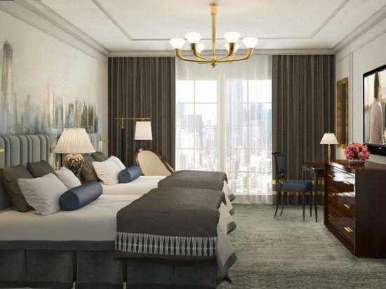 紐約巴克萊洲際大酒店(InterContinental New York Barclay Hotel)豪華雙人房(帶兩張雙人床)