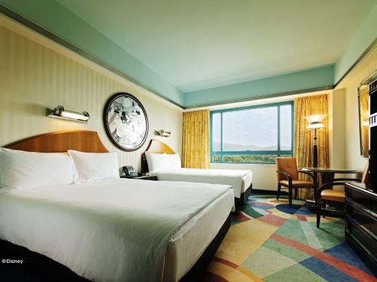 迪士尼好萊塢酒店(Disney's Hollywood Hotel)高層豪華雙床房