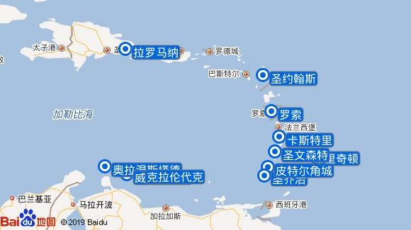 AidaPerla航线图
