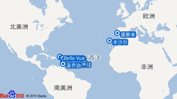 Seabourn Odyssey航线图