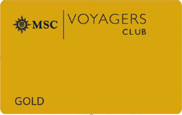 地中海航海家俱乐部-金卡会员 MSC Voyagers Club-Gold Membership