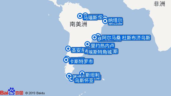 Seabourn Quest航线图