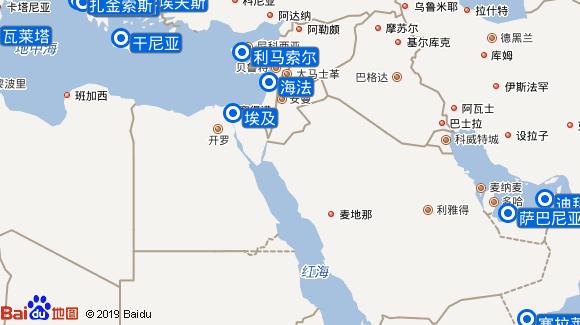 Oceana航线图