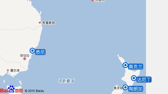 海洋旋律号航线图